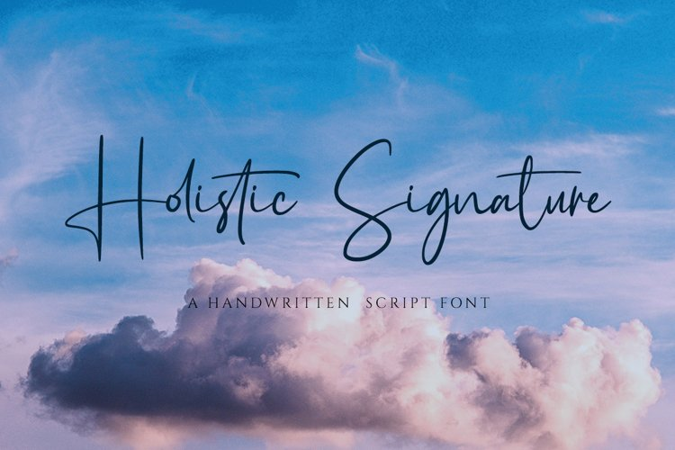 Holistic Signature - A Handwritten Signature Font example image 1