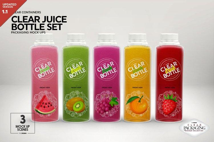 Juice Bottle Set Packaging MockUp example image 1