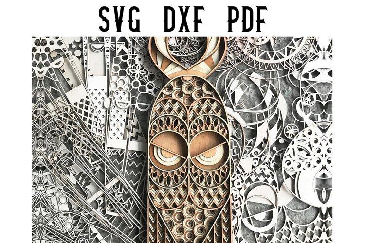 Foxy African Mask Multilayer Mandala Cut File - SVG DXF