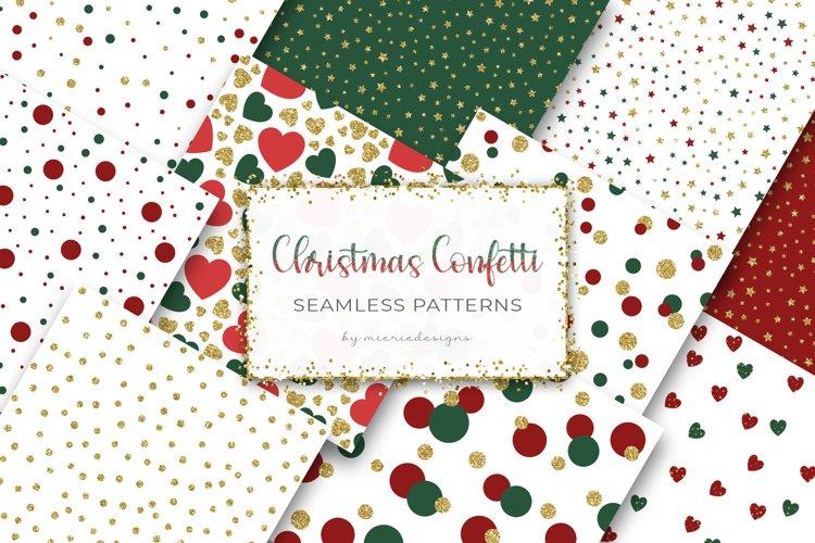 Christmas Gold Confetti Digital Paper