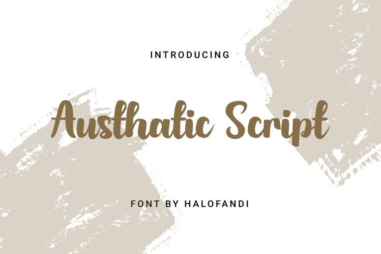 Austhatic Script example image 1