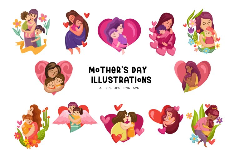 Mothers Day Illustrations