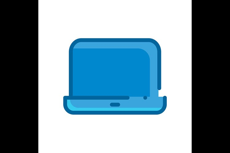 Computer symbol blue Icon vector illustration example image 1