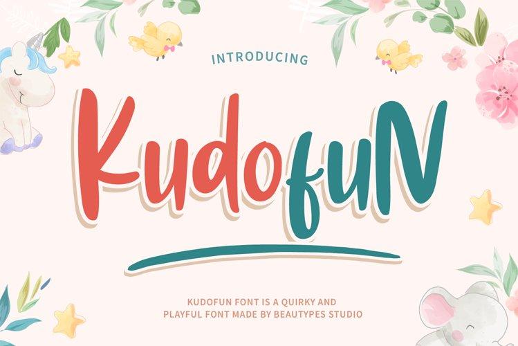 Kudofun - Stunning playful font