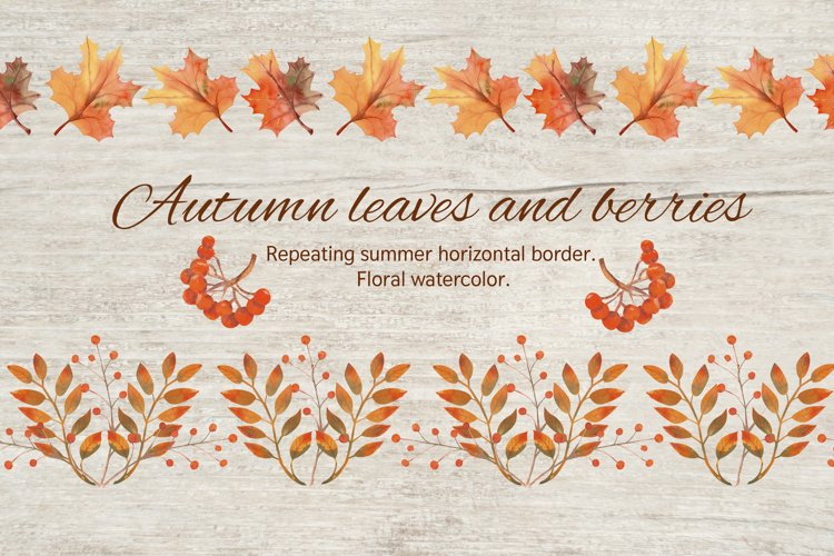 Autumn leaves. The repetition of the horizontal border. example image 1