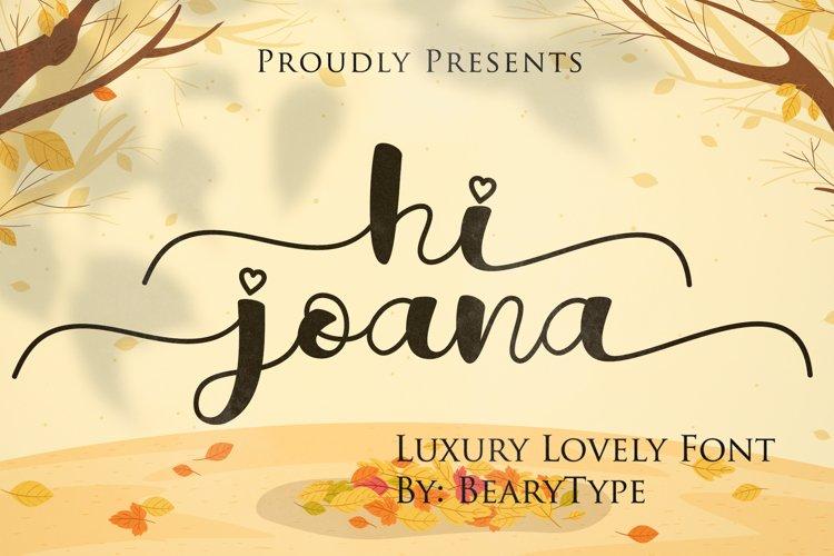 Hi Joana example image 1