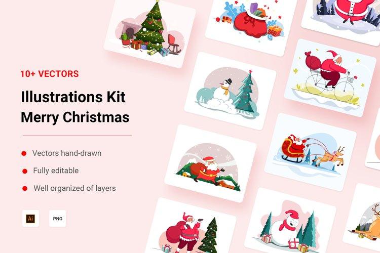 Merry Christmas Illustration Kit example image 1
