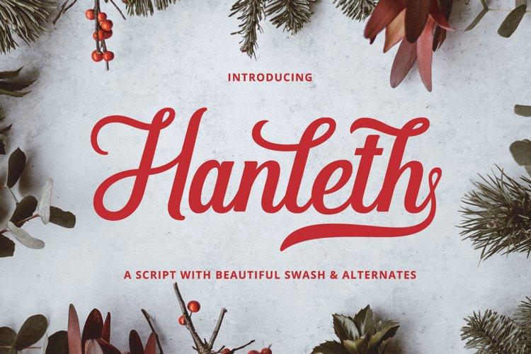 Hanleth Beautiful Script example image 1