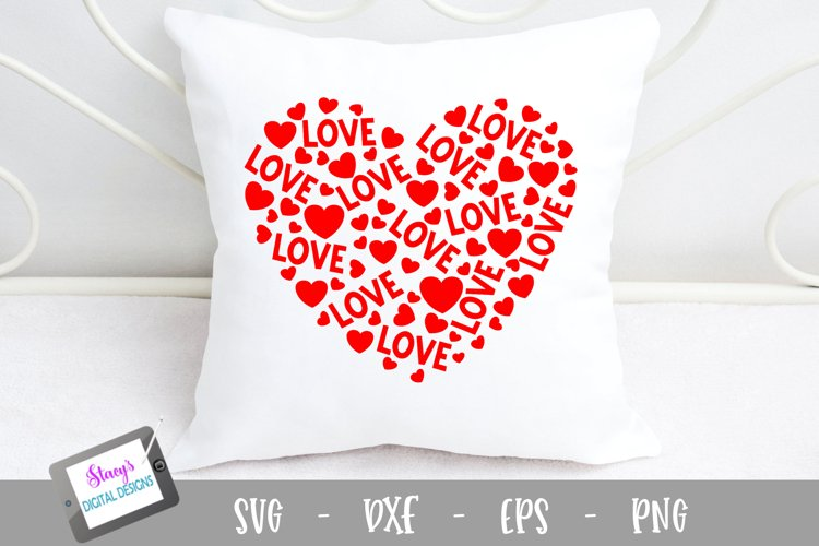 Heart of Love SVG - Valentines Day SVG