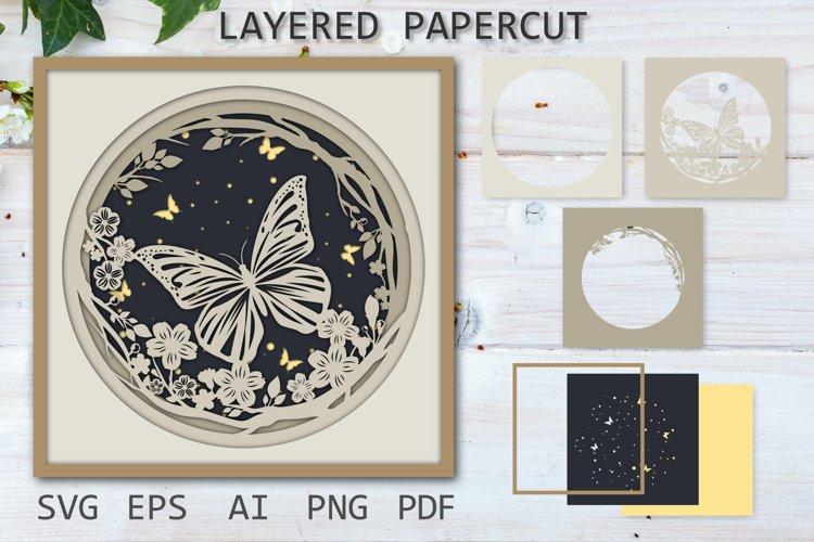 Butterfly SVG Layered papercut, Paper cut, 3D Paper Cutting