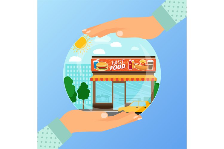 Business concept for opening the institution of fast food example image 1