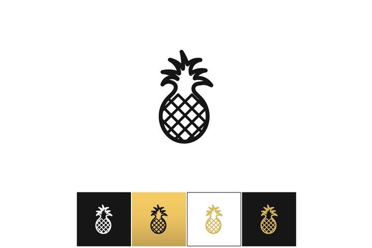 Pineapple sweet exotic dessert vector icon example image 1
