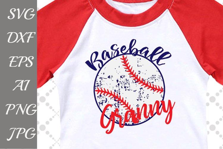 Baseball Granny Svg example image 1