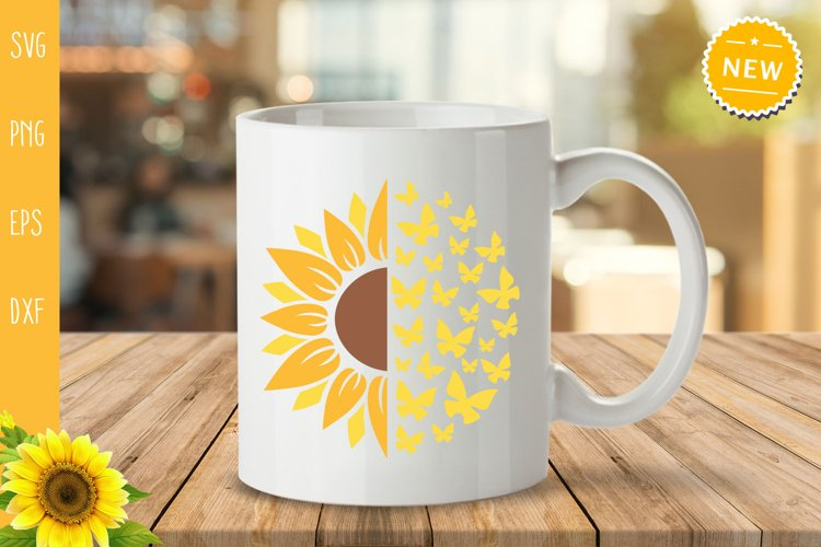Sunflower Bundle Svg, Sunflower Svg, Sunflower Monogram Svg example 5
