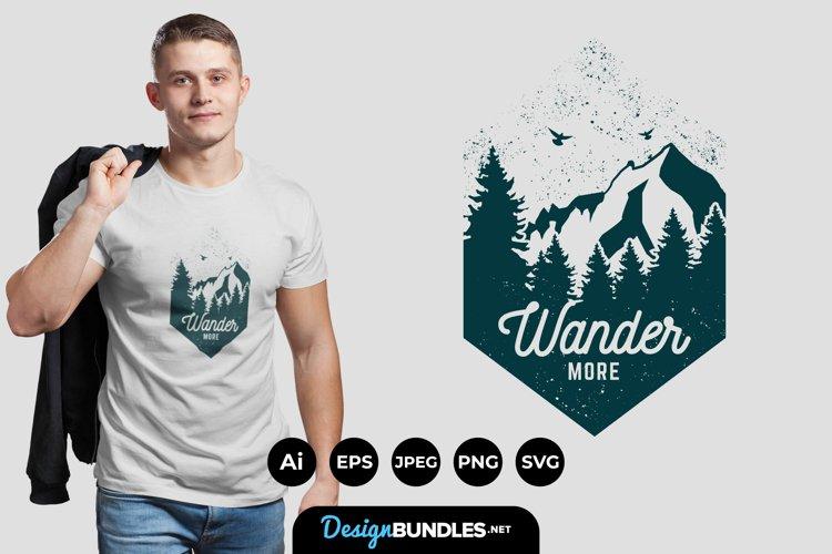 Wander More Illustrations for T-Shirt Design