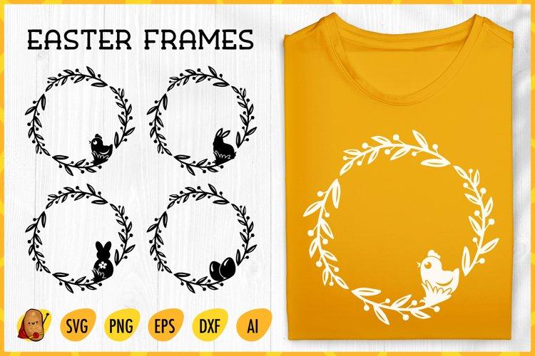 Easter Frames Bundle SVG - Round Frames SVG - Easter SVG