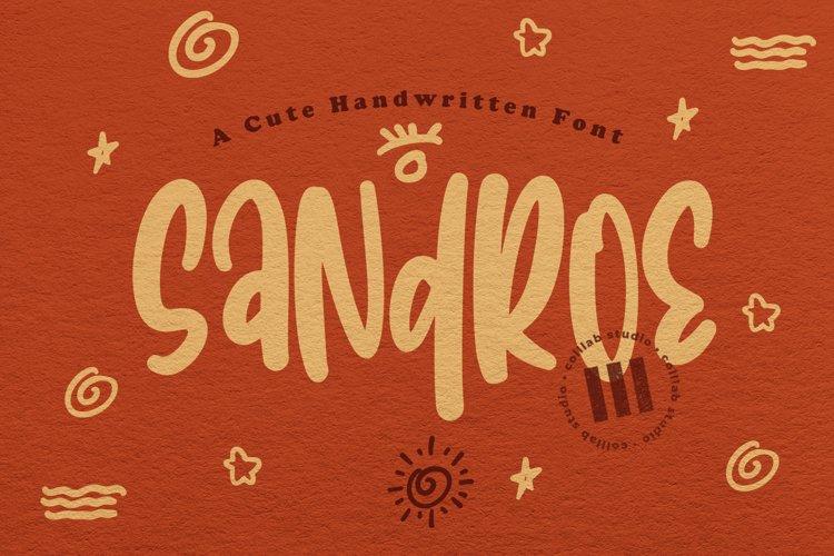 Sandroe - A Cute Handwritten Font example image 1