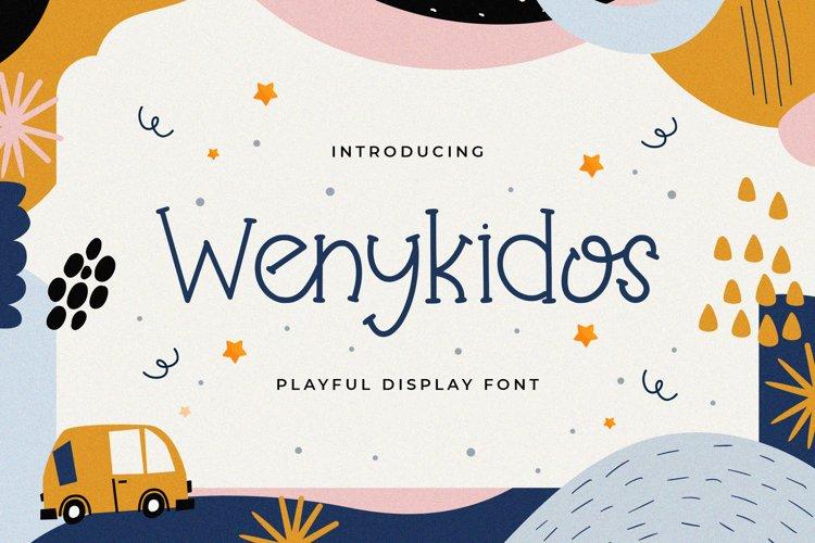 Wenykidos - Playful Display Font example image 1