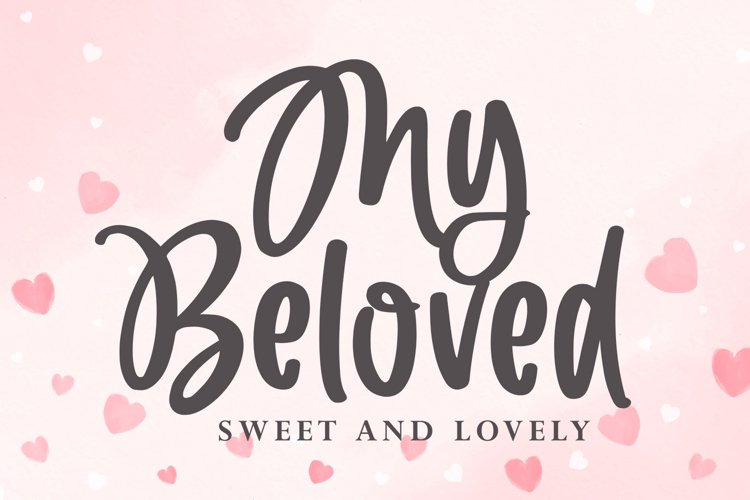My Beloved - Cute and Lovely Font example image 1