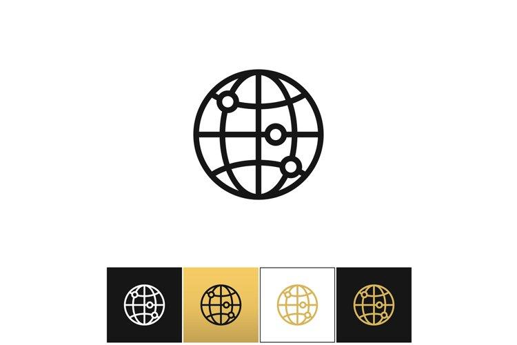 Internet globe earth world vector icon example image 1