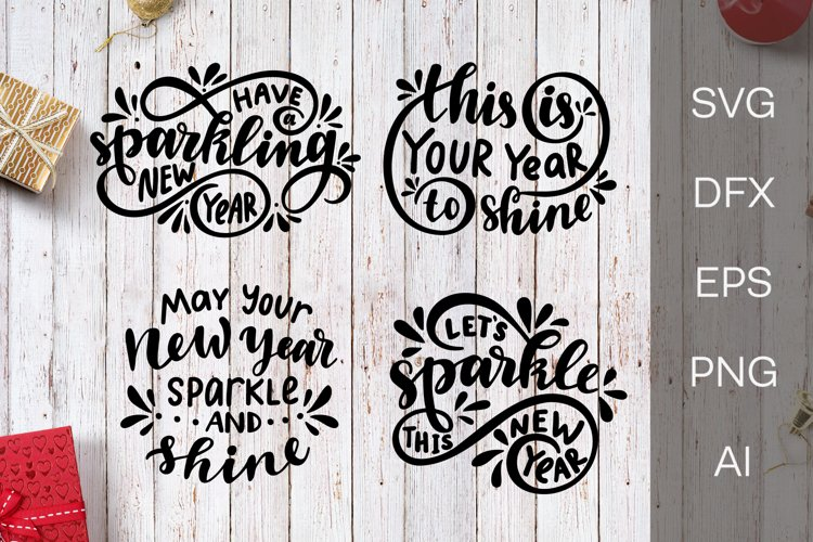 New Year SVG. Lettering. New Year quotes example image 1
