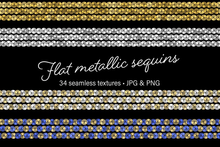 Flat Metallic Sequins example image 1