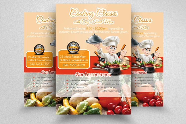 Cooking Coaching Centre Flyer example image 1