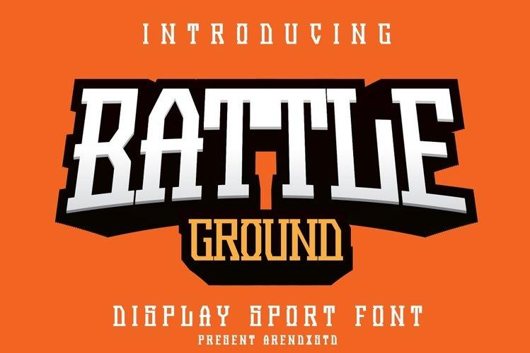 Battleground - Display Sport Font example image 1