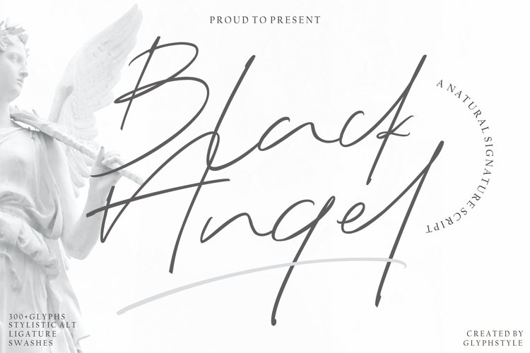 Black Angel - a Natural Signature Script example image 1