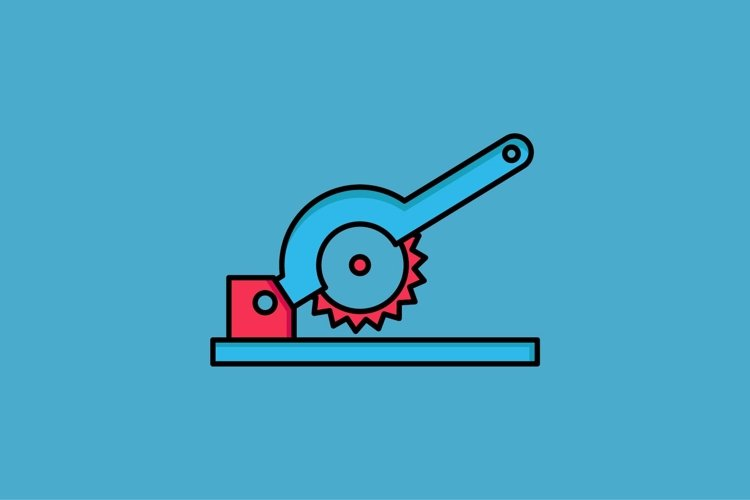 circular saw filled outline Icon example image 1