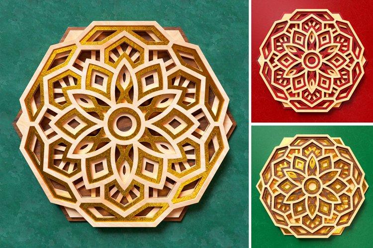 Mandala 3D Layered SVG Cut File - Laser Cutting example 4