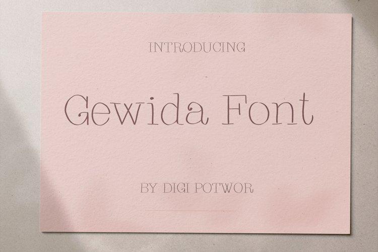 Gewida font example image 1