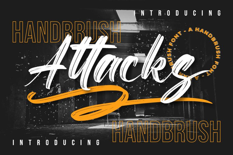 Attacks - Brush Font example image 1