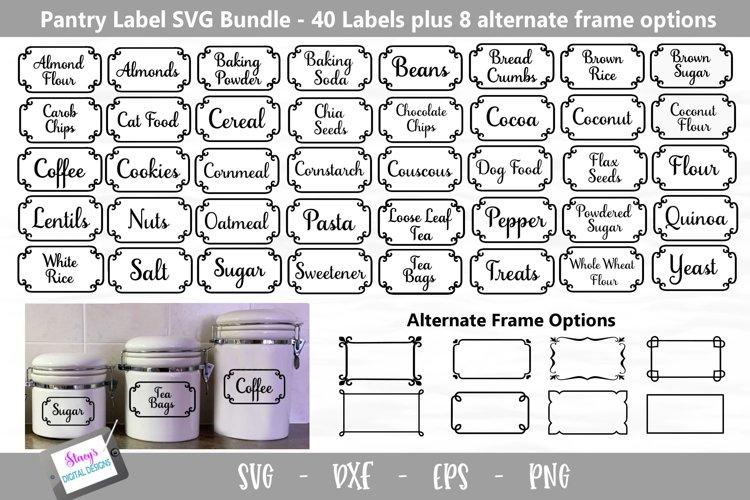 Pantry Labels SVG Bundle - 40 Kitchen Labels example image 1