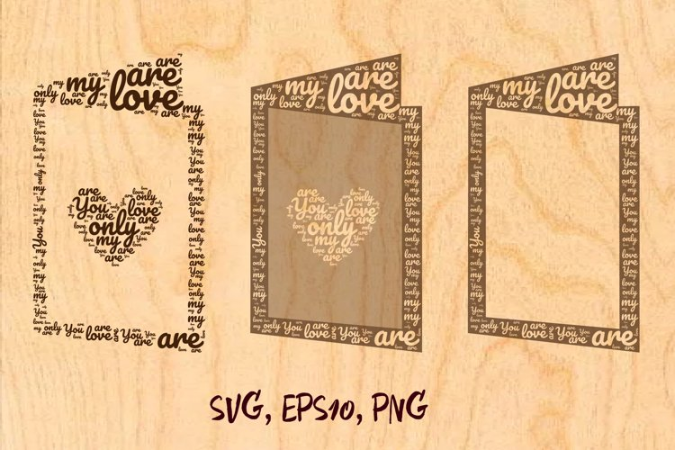 Postcard made from words of love example image 1