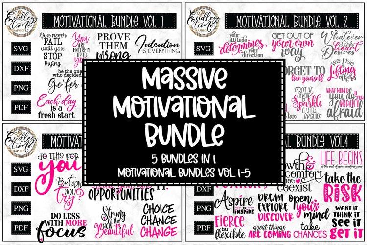 Massive Motivational SVG Bundle - 5 Bundles in 1   Vol. 1-5
