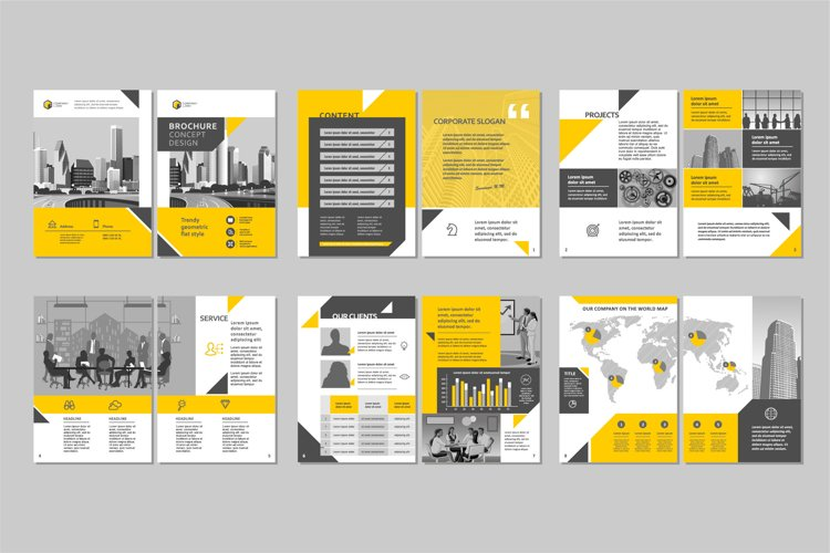 Brochure template concept creative design. example image 1