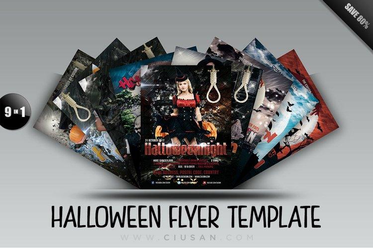 Halloween Flyer Template - Bundle example image 1
