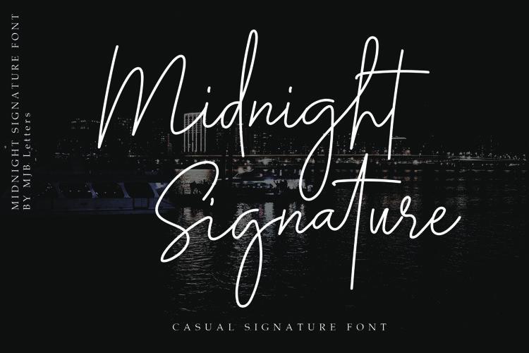 Midnight Signature Font example image 1