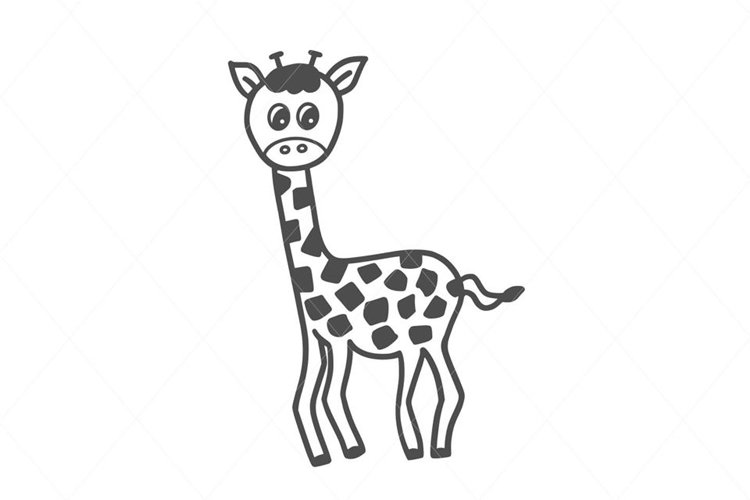 Giraffe svg, cute giraffe design cut file for Cricut & more example image 1