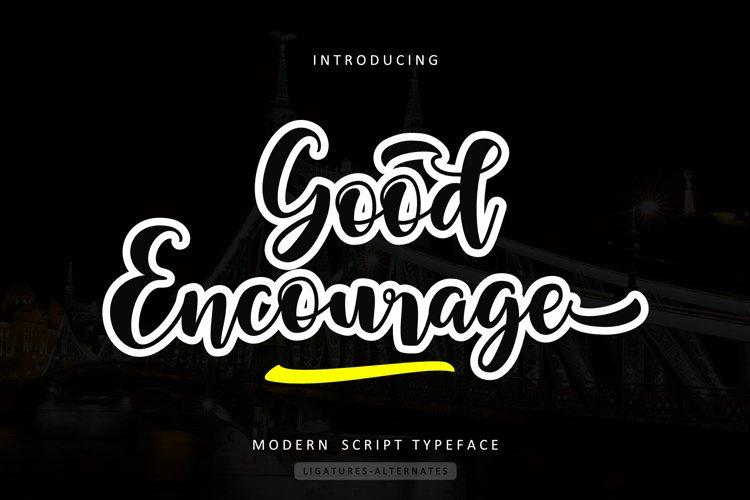 Good Encourage example image 1