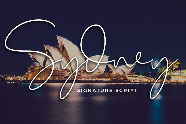 Sydney Signature Script Font example image 1