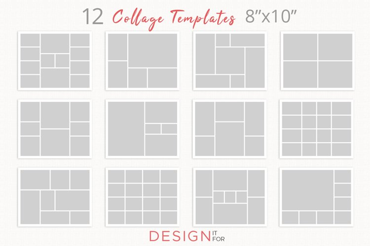 Photo Collage Template Psd, Storyboard template bundle, blog