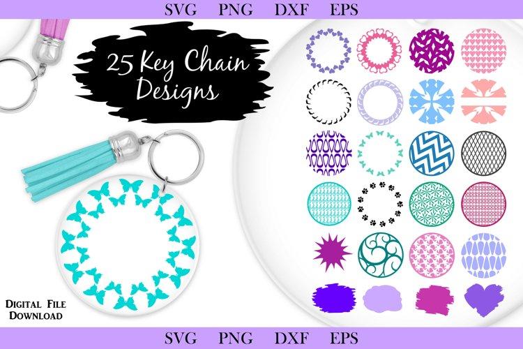 25 SVG Keychain Designs - Assorted round