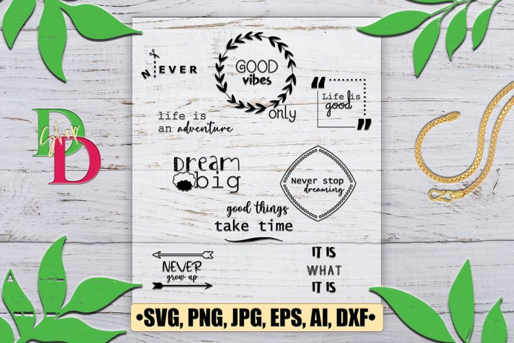 Quotes SVG , Quotes Clip art, Quotes Vector, Wreath Quotes