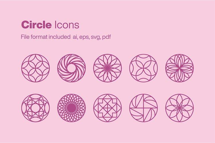 Circle 10 Icons example image 1