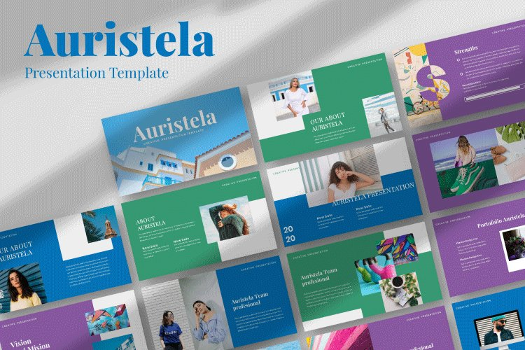 Auristela Creative Google Slides Template example image 1