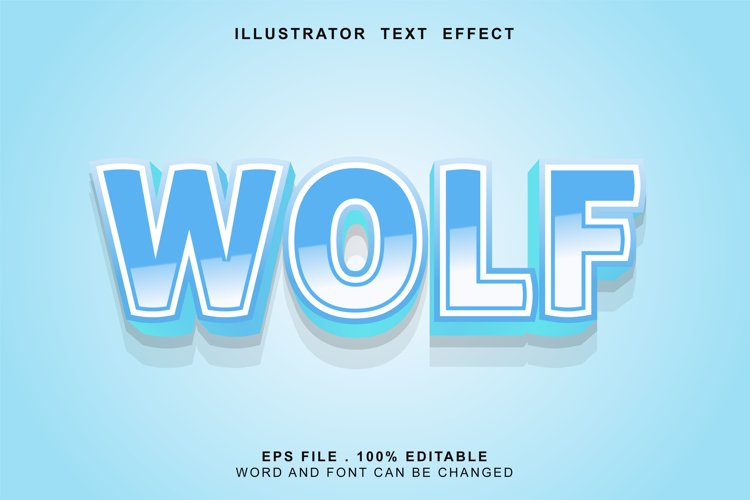 wolf text effect editable example image 1