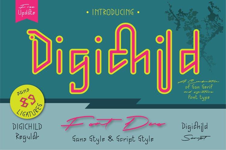 Digichild Font Duo example image 1