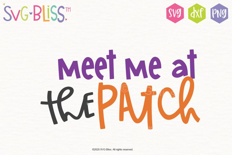 Meet Me at the Patch- Halloween SVG